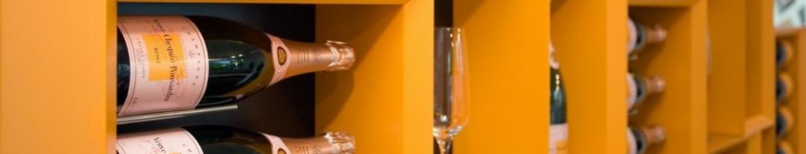 Wooden wine rack Esigo 5 Veuve Clicquot finishings