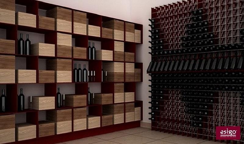 Esigo 2 Box wine cabinet