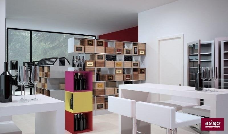 Esigo 2 Box wine storage rack