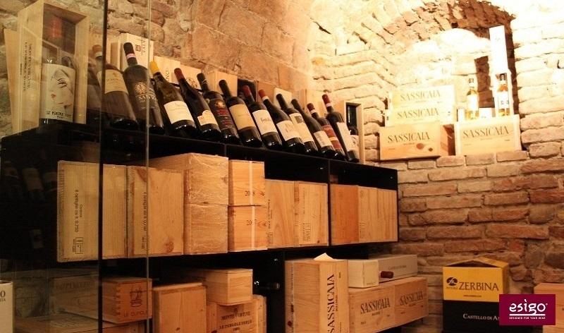 Esigo 2 Box steel wine storage rack