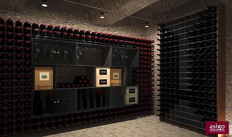Esigo 2 Box - Esigo 2 Net steel wine racks