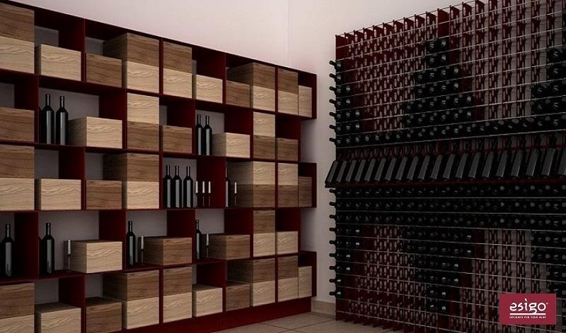 Esigo 2 Net metallic steel wine rack