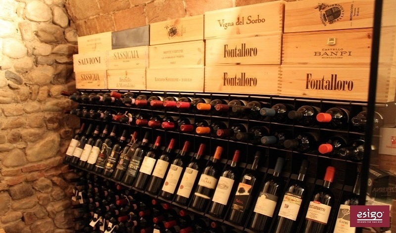 Esigo 2 Net wall mount wine rack