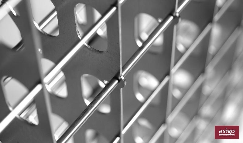 Esigo 2 Net inox steel wine rack