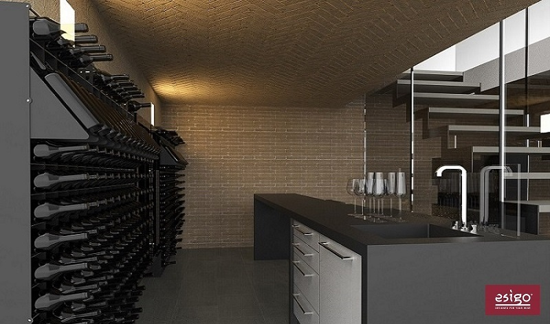 Esigo 2 Net wall-mount wine rack