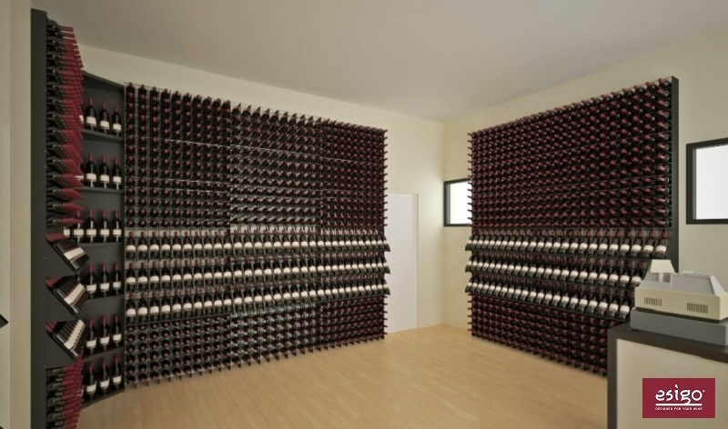 Esigo 2 Net modern wine rack