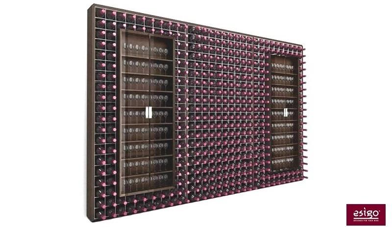 Esigo 2 Wall steel wine cabinet