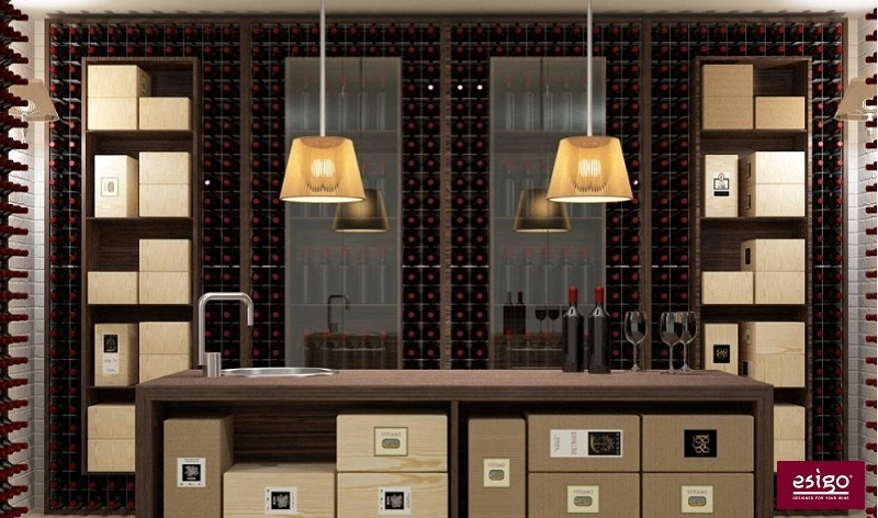 Esigo 2 Wall metallic wine rack