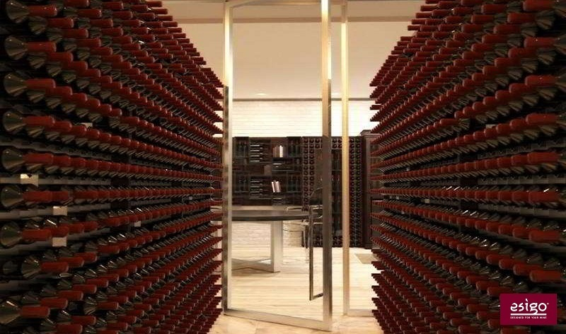 Esigo 2 Wall wine cabinet - wine room with air conditioning