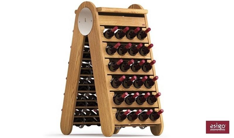 Esigo 3 Classic wood wine rack
