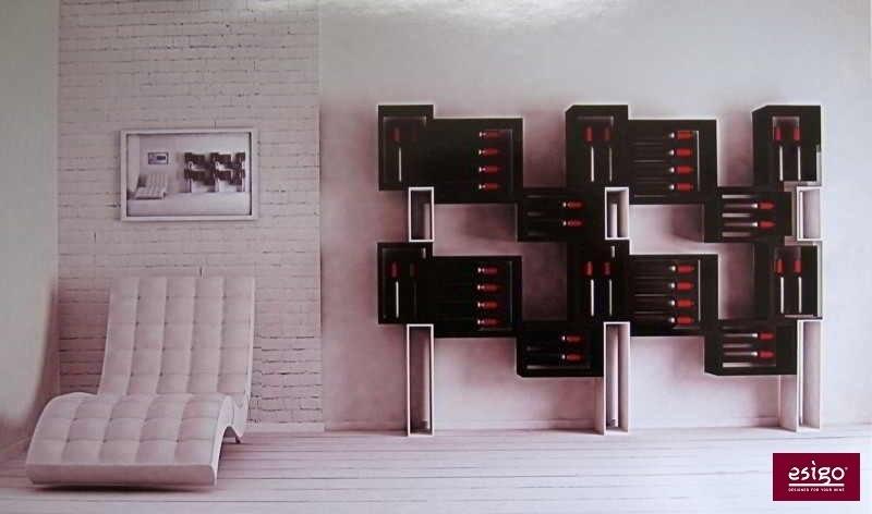 Esigo 5 contemporary wine storage rack