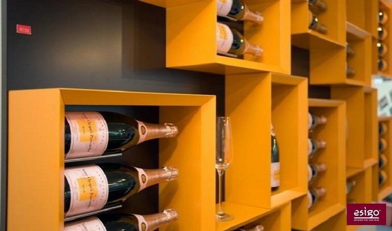 Esigo 5 contemporary designer wine rack