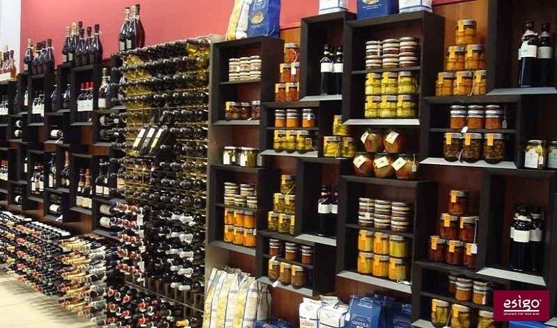 Esigo 5 design wall-mounted wine rack