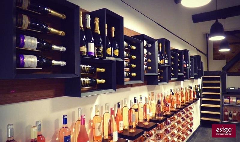 Esigo 5 modern wooden wine rack