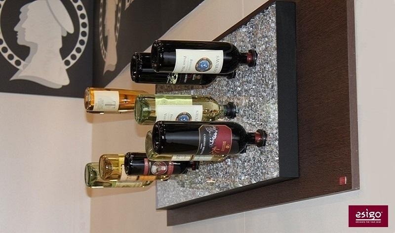 Esigo 6 aluminium wine rack