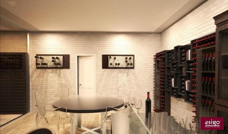 Esigo 6 contemporary wine rack