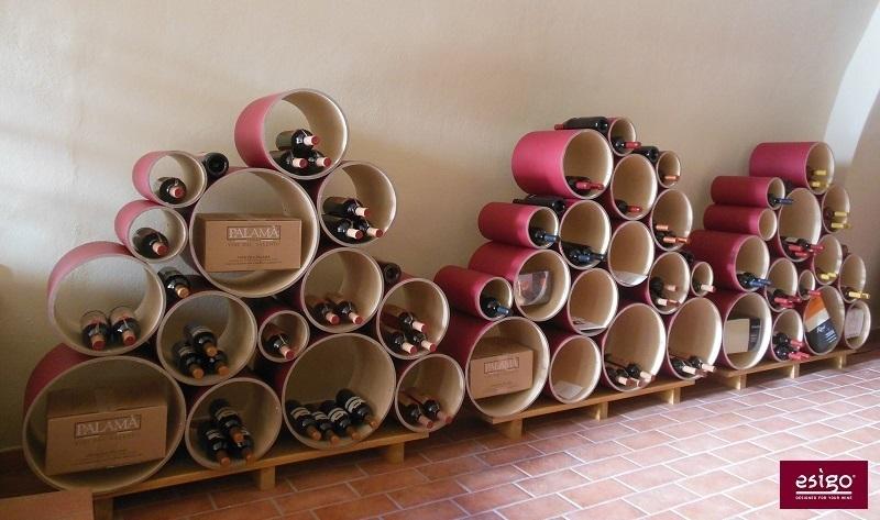 Esigo 8 cardboard modern wine rack