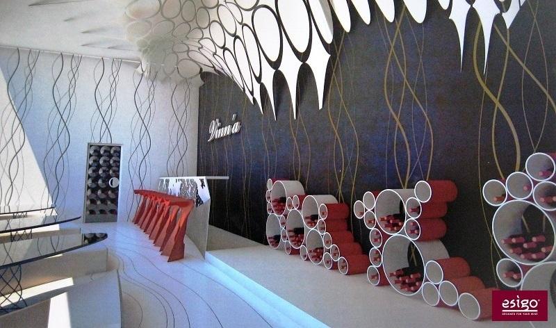 Esigo 8 modern wine rack - wine shop furniture