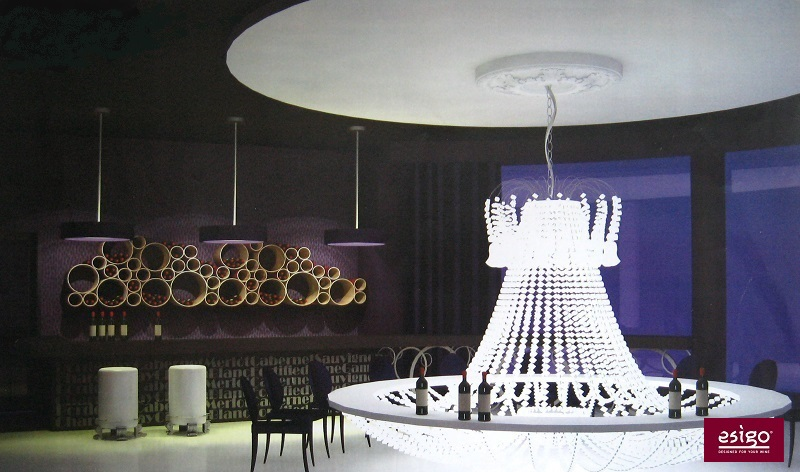 Esigo 8 cardboard design wine rack