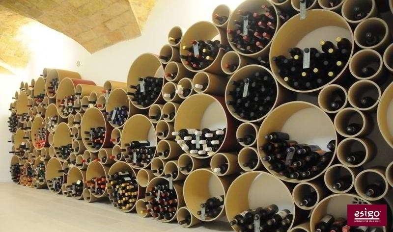 Esigo 8 contemporary design wine rack
