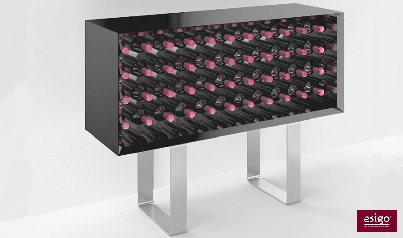 Esigo 9 wooden wine cabinet