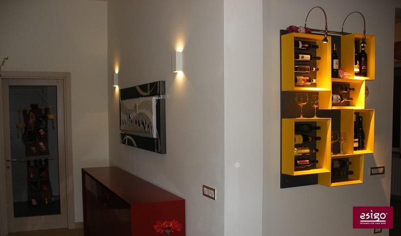 Esigo 5 design wooden wine rack