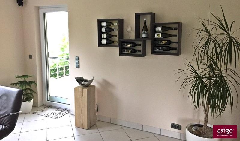 Esigo 5 contemporary wine rack