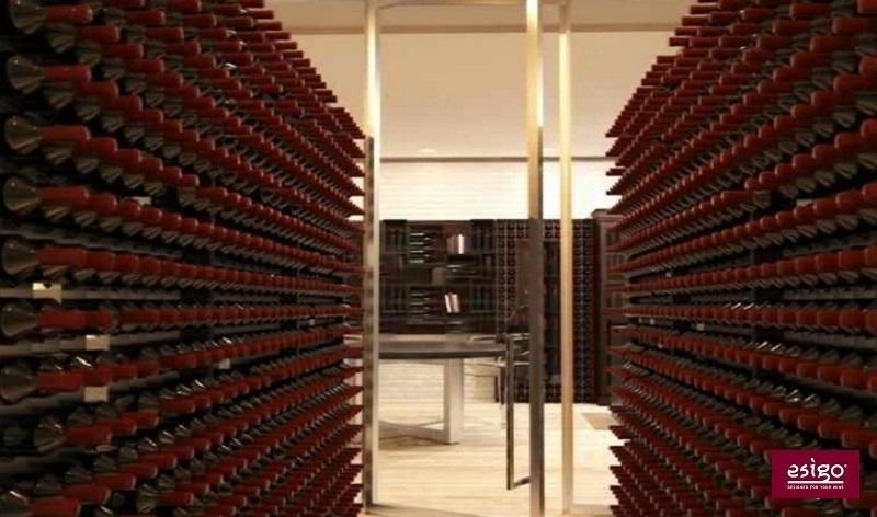Esigo 2 Wall wood and steel wine rack