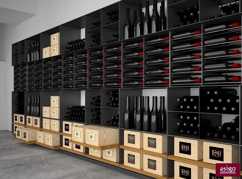 gallery am nagement cave vin esigo. Black Bedroom Furniture Sets. Home Design Ideas