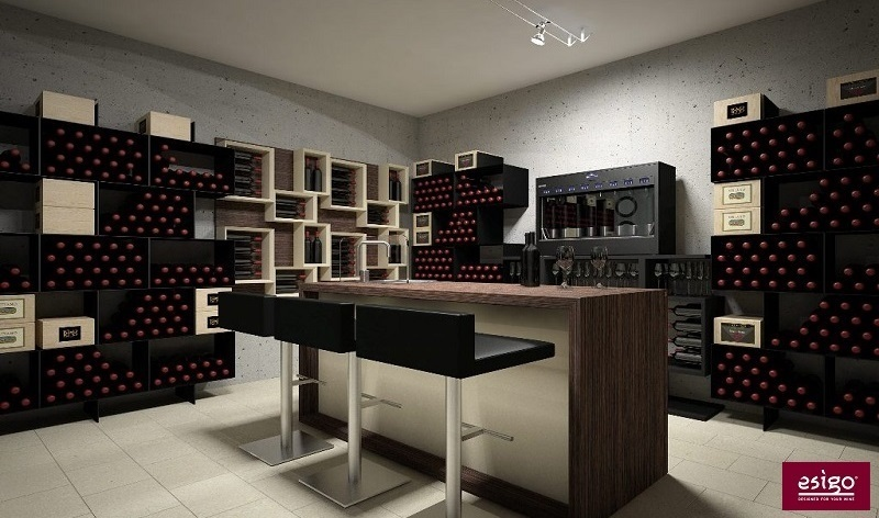 Esigo wine cellar furniture - Box version