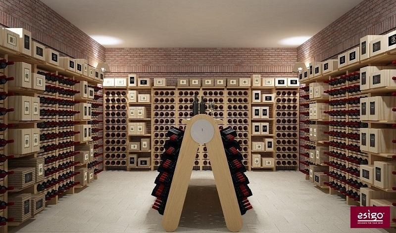 Esigo wine cellar racking system