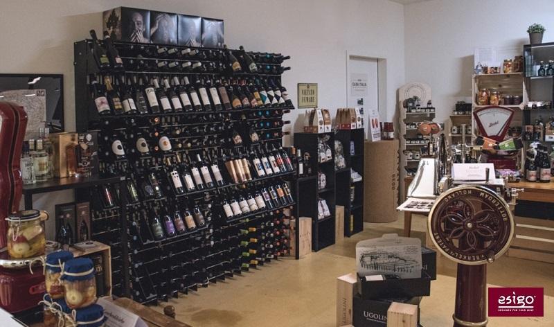 Esigo 2 Net wall mounted wine rack