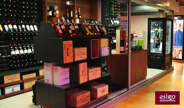 Esigo contemporary wine shop furniture