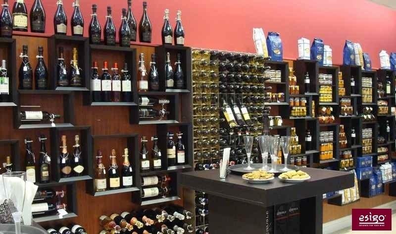 Design wine shop furniture