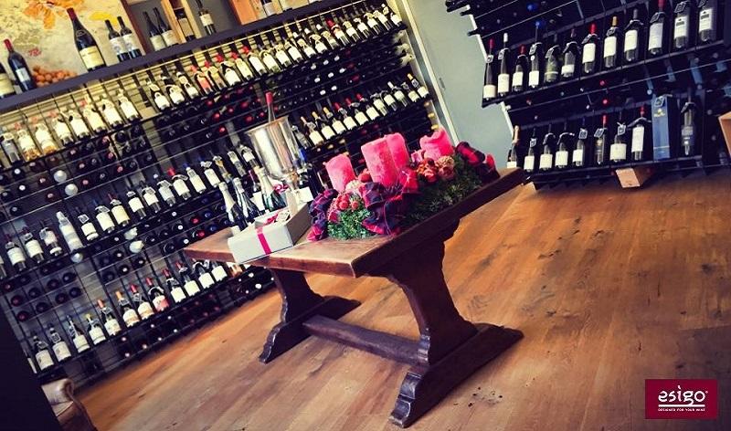 Custom wine shop furniture