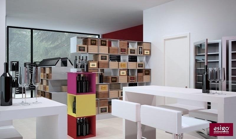Designer wine shop furniture by Esigo