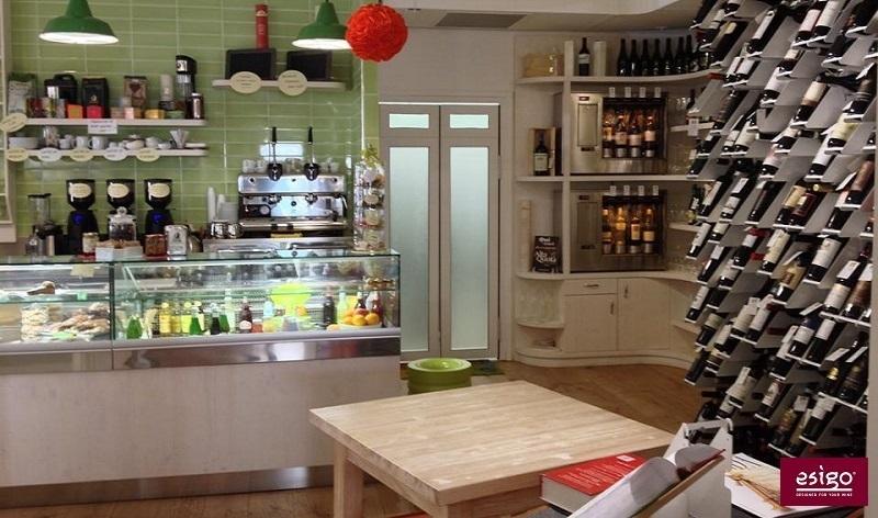 Esigo 2 Net metallic wine rack - wine shop furniture