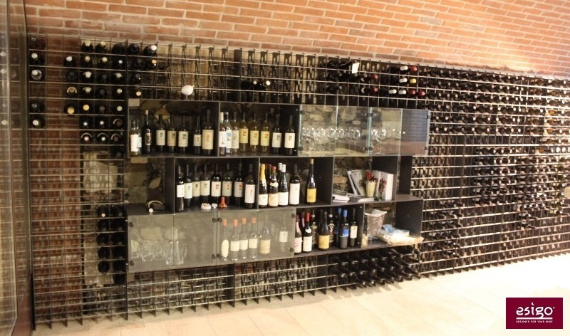 Wine racking system for wineries retail shop furniture