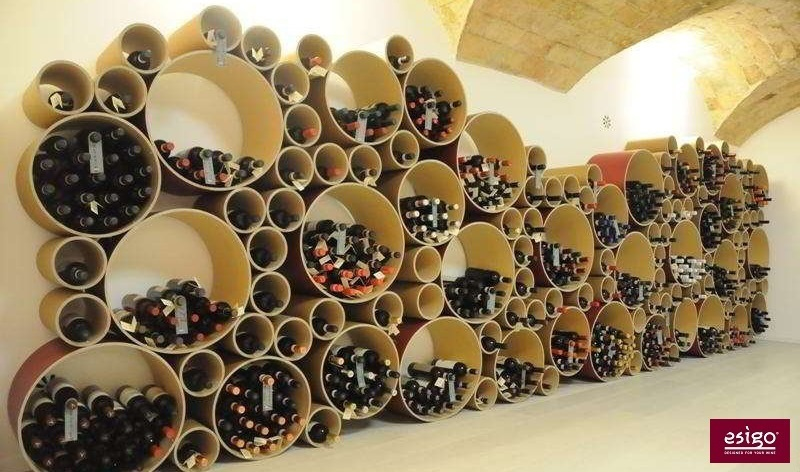 Wine storage racks for wineries retail store furniture