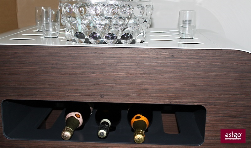 Esigo's contemporary wine trolley