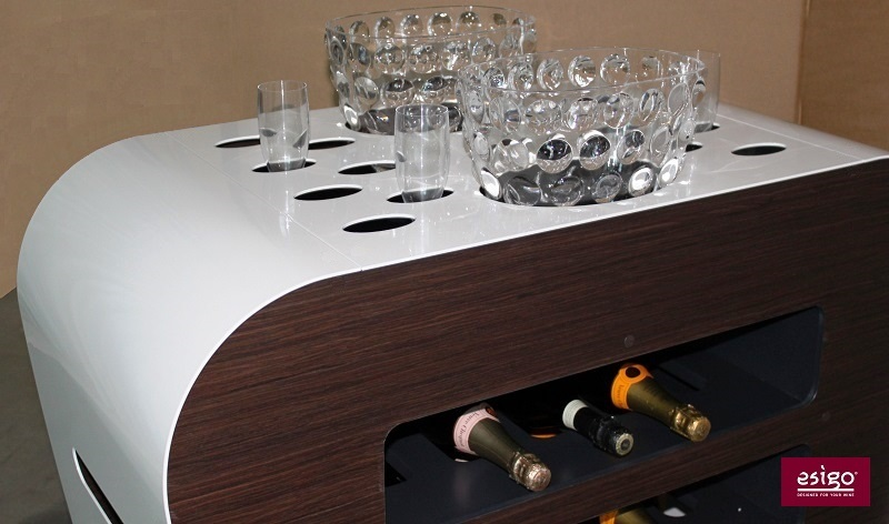 Esigo's modern wine trolley