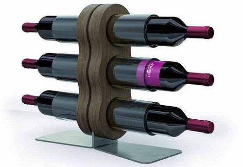 Esigo 11 plexiglass wine bottles holder