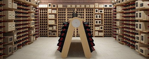 Classic champagne version wooden wine cellar furniture