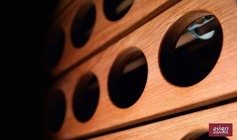 Esigo 1 Classic solid oak wooden wine rack