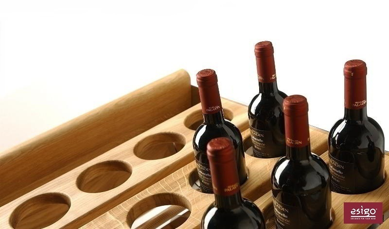 Esigo 1 Classic wood wine bottles rack