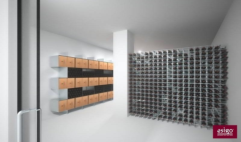 Gallery weinregal aus metall esigo 2 box - Porta vini da parete ...