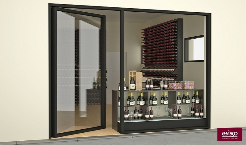 Esigo 2 Box contemporary design wine rack