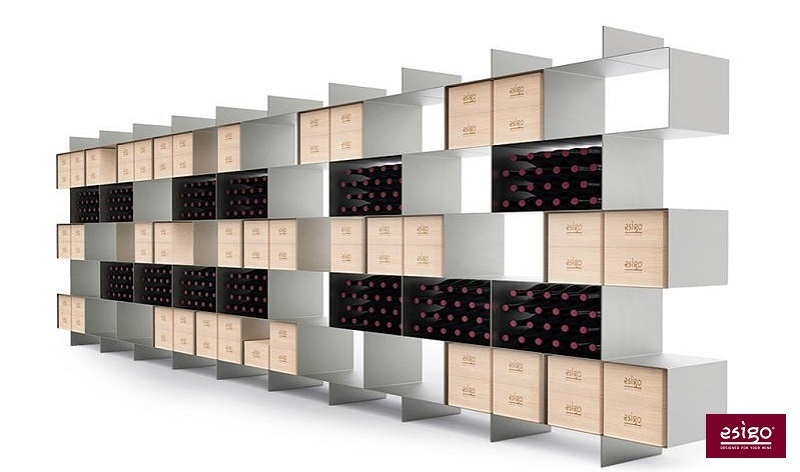 Esigo 2 Box steel wine rack cabinet