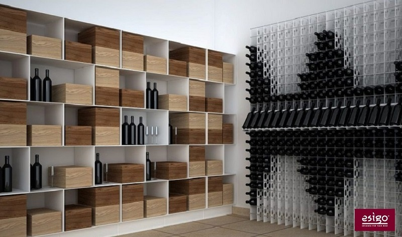 Esigo 2 Box steel wine storage rack