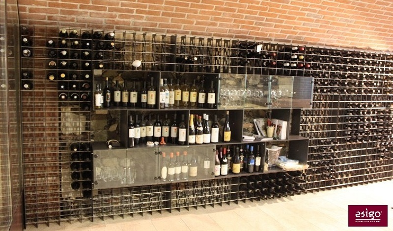 Esigo 2 Box commercial metal wine rack